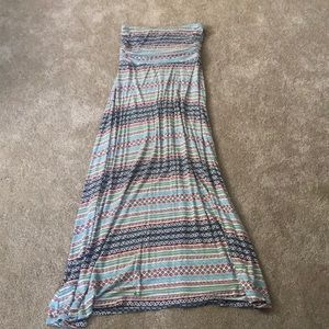 Maxi tube top dress